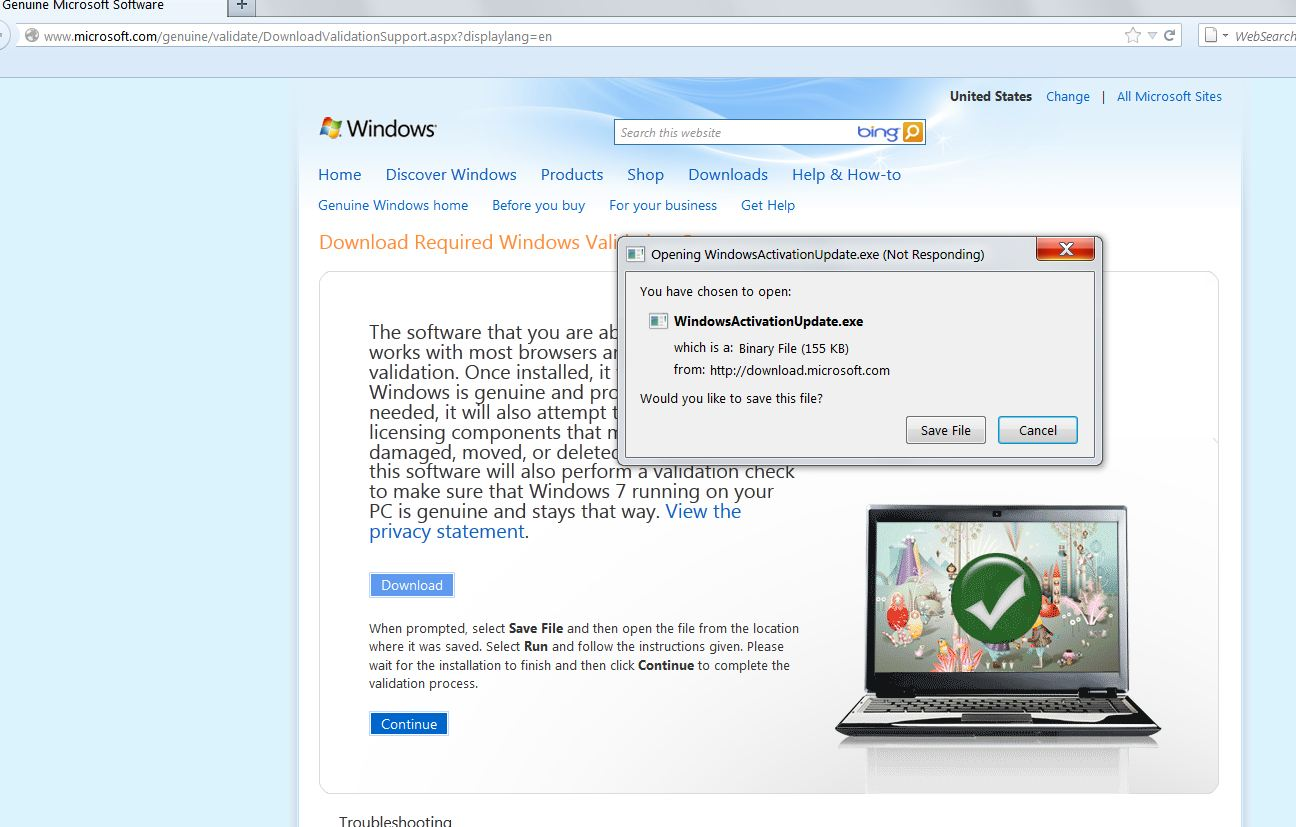 Remove the windowsactivationupdate and active windows scam.